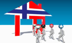 Norway immigration concept