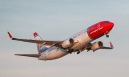 Norwegian Air Shuttle Boeing 737-800 in the air
