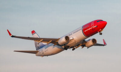 Norwegian Air Shuttle Boeing 737-800 in the air