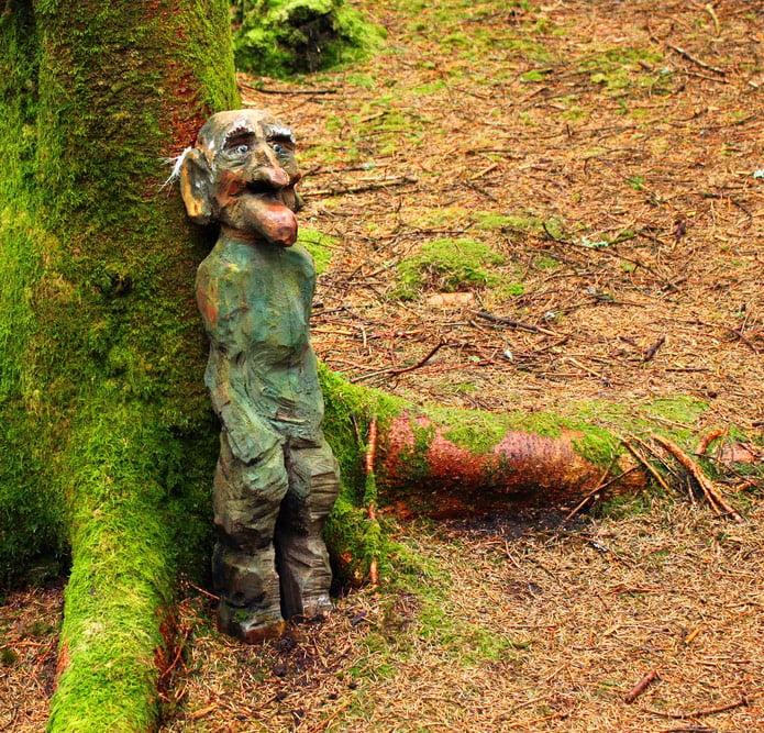 Norwegian troll in a fairytale forest at Årdal in Ryfylke, Norway
