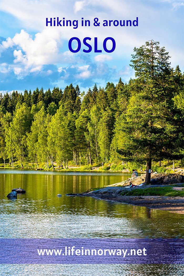 The lake at Sognsvann in Oslo is a popular hiking destination for locals.