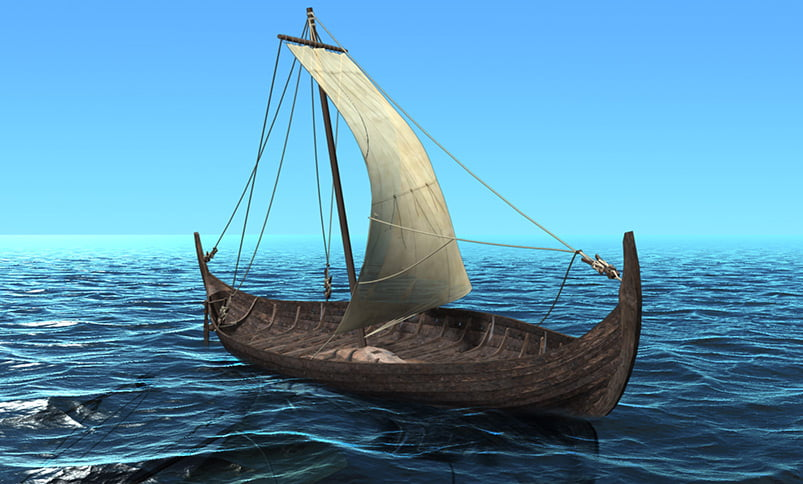 Illustration of the Tune Viking ship