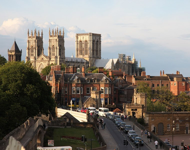 The city of York in northern England