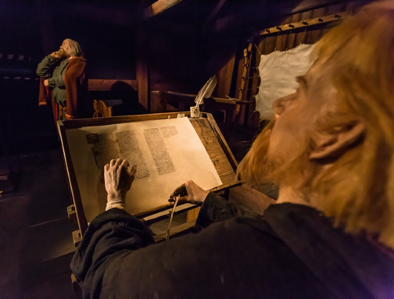 The Viking sagas in an Iceland museum