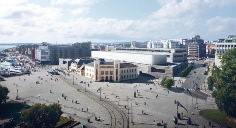 Illustration of the new National Museum in Oslo