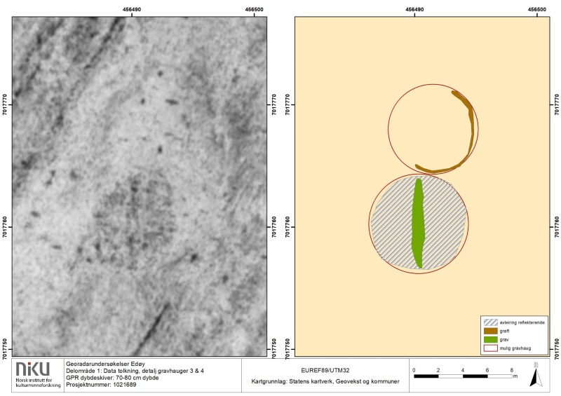 The georadar data from Edøy island that clearly shows a Viking boat grave