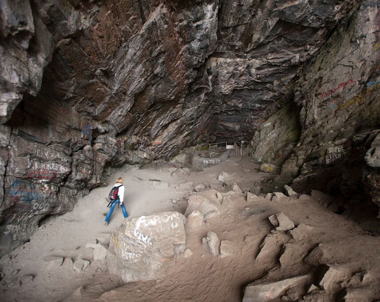 Cave on Giske archipelago in Norway