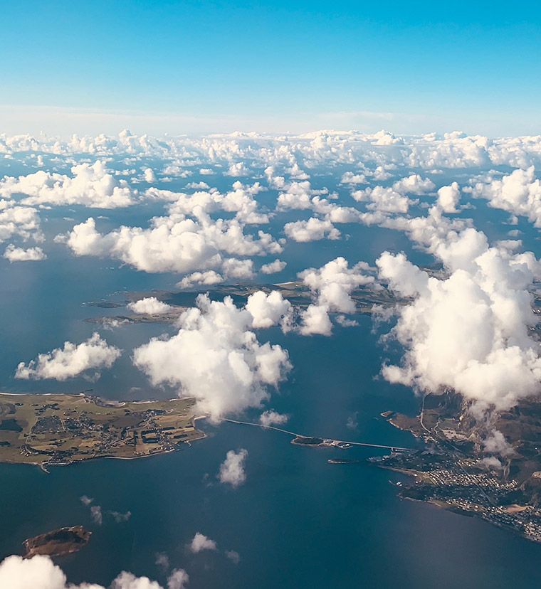 Giske islands in Norway from above
