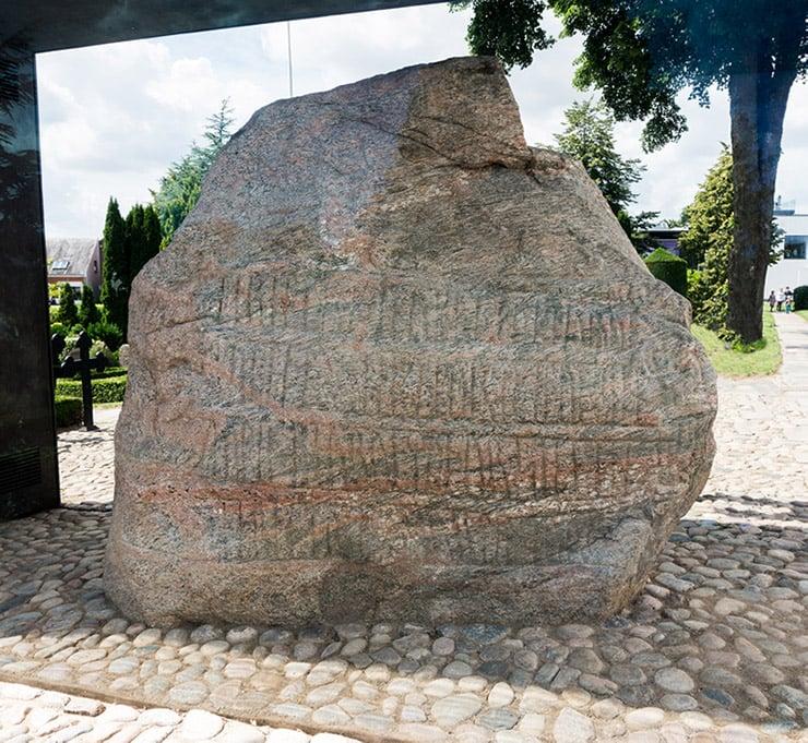 Jelling runestone in Denmark
