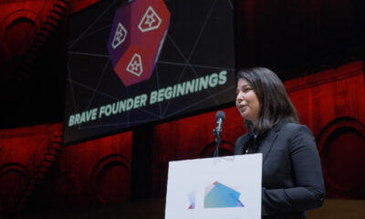 Maria Amelie speaking at the Nordic Startup Awards