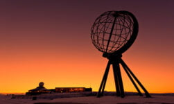 Nordkapp in Norway during sunset
