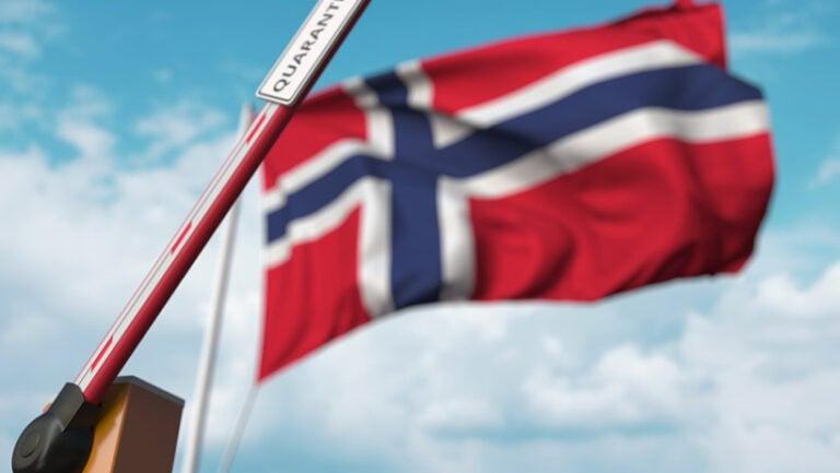 Norway border control quarantine concept