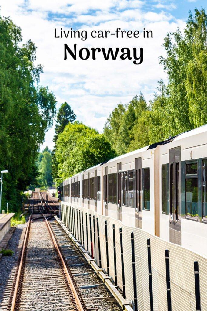 Metro train in Oslo, Norway