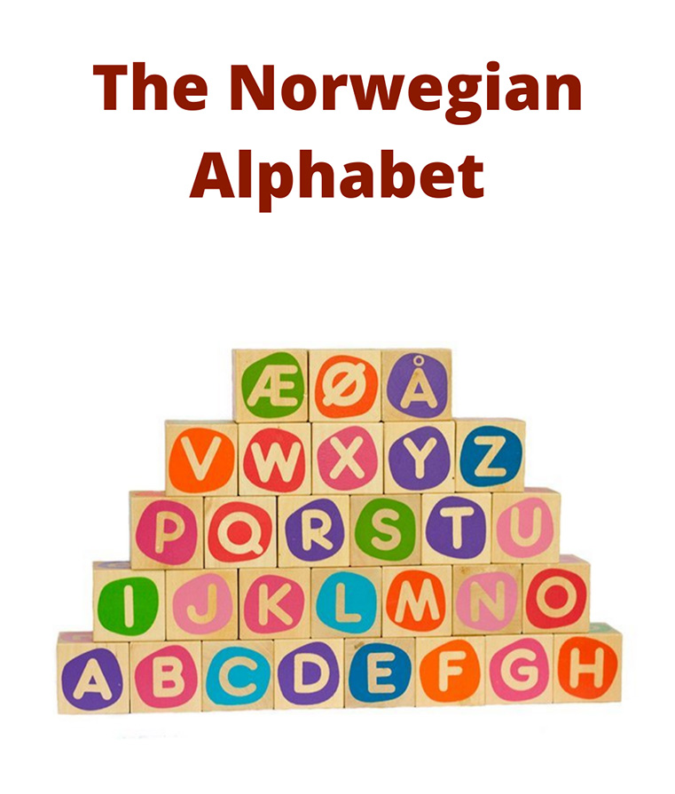 The Norwegian alphabet