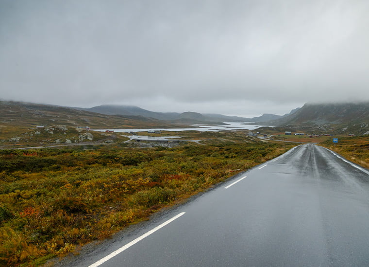 Scenic road trip through Rondane National Park in Norway