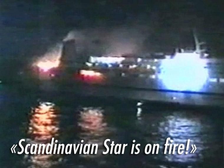 Scandinavian Star on fire