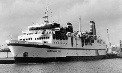 The MS Scandinavian Star showing the fire damage after the disaster at sea