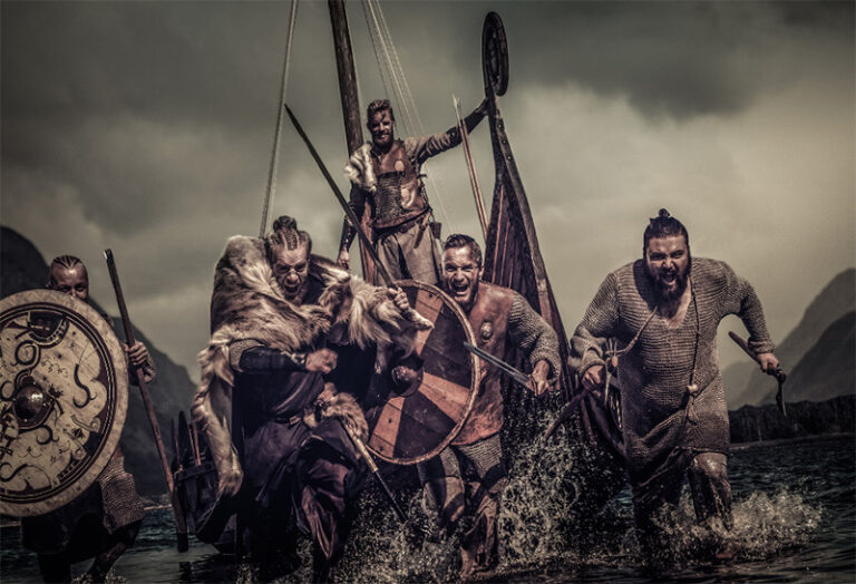 A historical Viking action scene