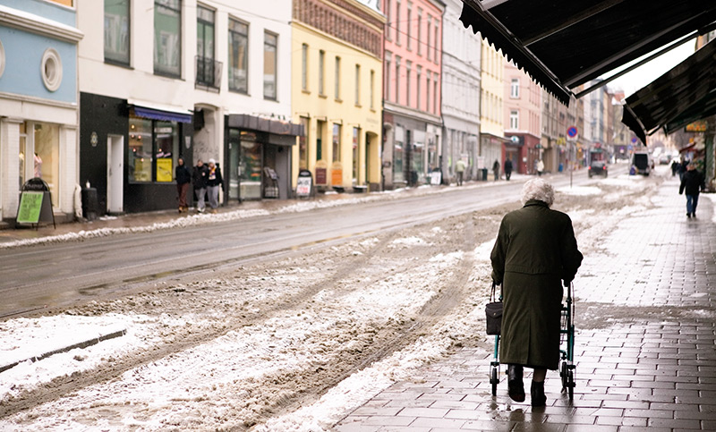 Elderly lady in Oslo, Norway