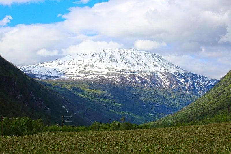 Gaustatoppen mountain in Telemark, Norway