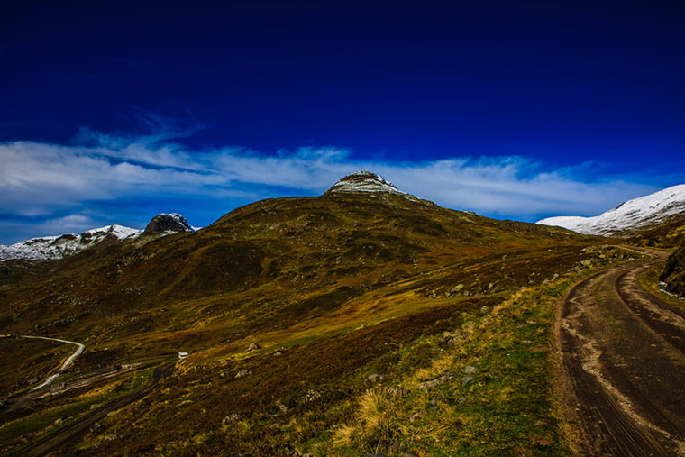The landscape surrounding Voss, Norway