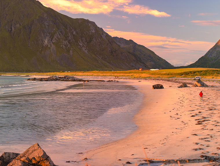 A beach in northern Norway