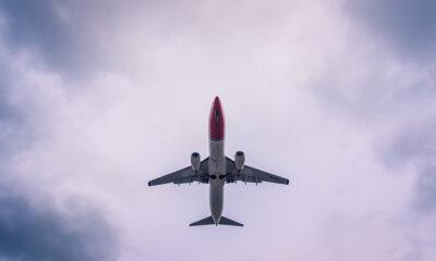 Norwegian jet from below