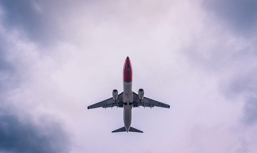 Norwegian jet from below
