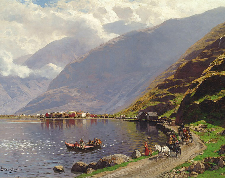 Old Lærdal painting