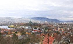 Panorama of Trondheim city centre, Norway