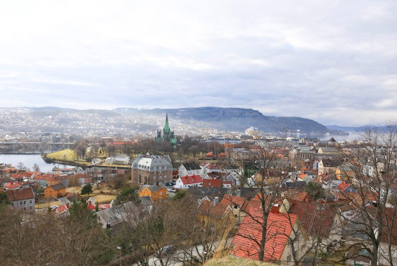 Panorama of Trondheim city centre, Norway
