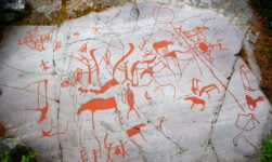 Ancient rock carvings in Alta, Norway
