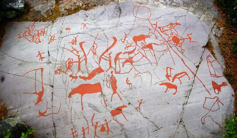 Ancient rock carvings in Alta, Norway