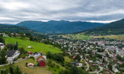 Panorama of Voss in western Norway