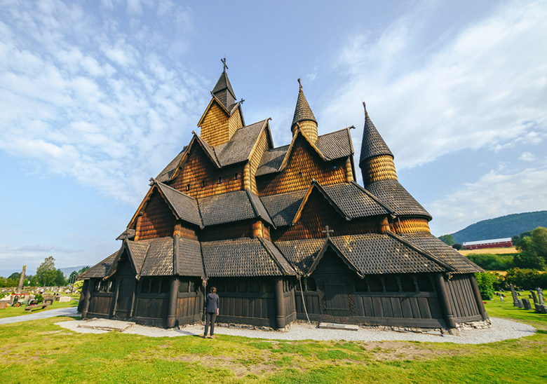 The back of Heddal stave church