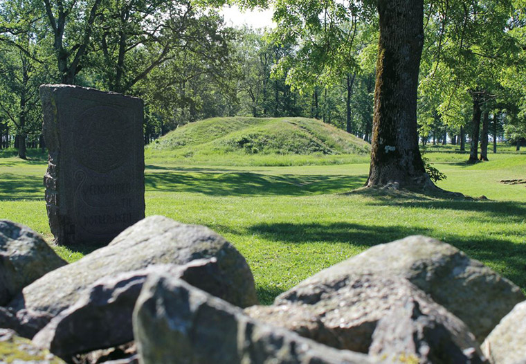 Borre burial mounds at the Midgard Viking Centre in Norway