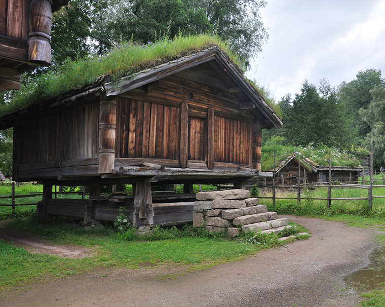 Telemark farm building at the Oslo Museum of Cultural History