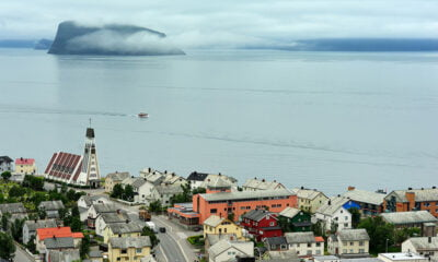 The waterfront of Hammerfest in Finnmark, Norway