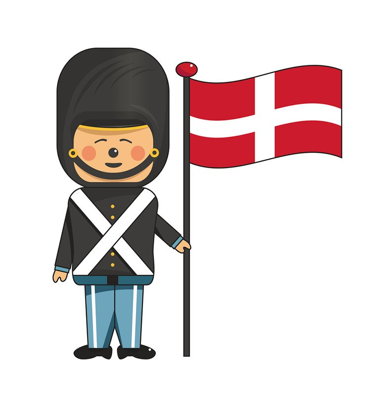 A happy Danish guard
