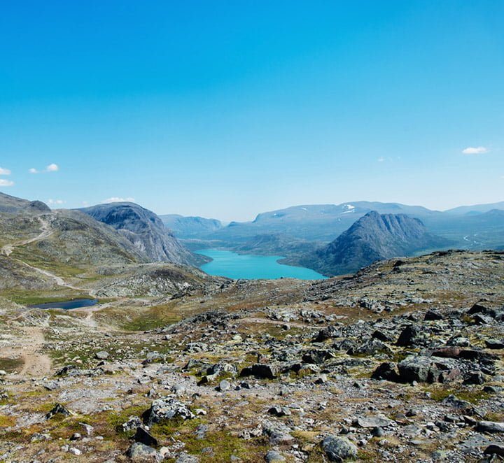 The scenery of Jotunheimen National Park in Norway