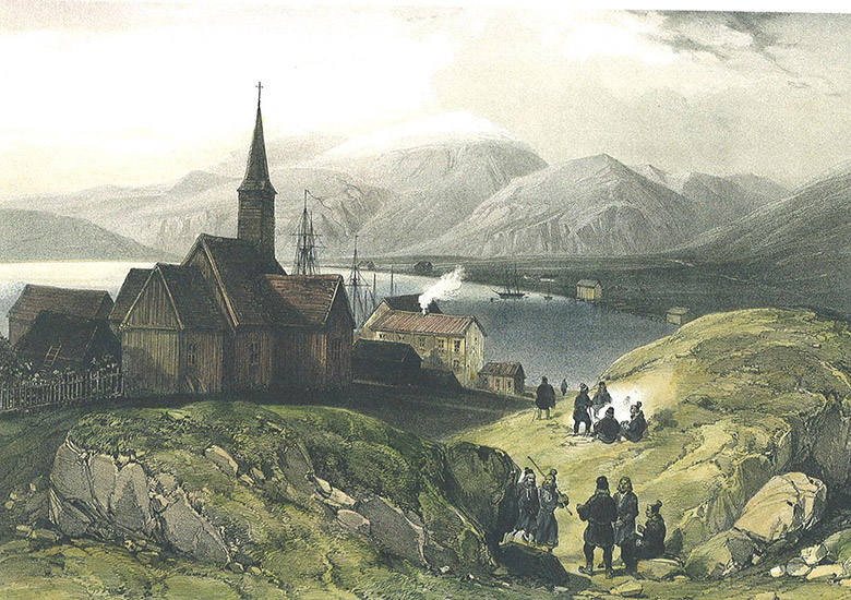 Historic Hammerfest, photo from 1838
