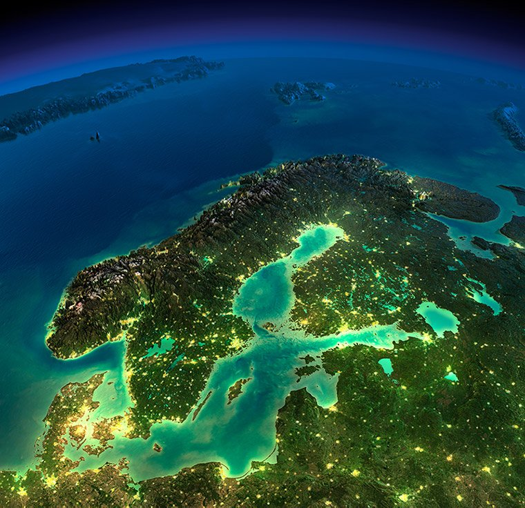 Northern Europe from space