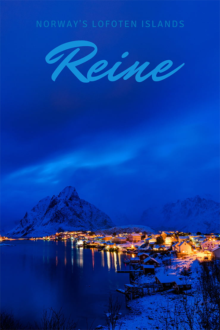 Reine, Norway, during blue hour