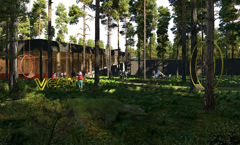 The proposed Vestre factory park in Norway