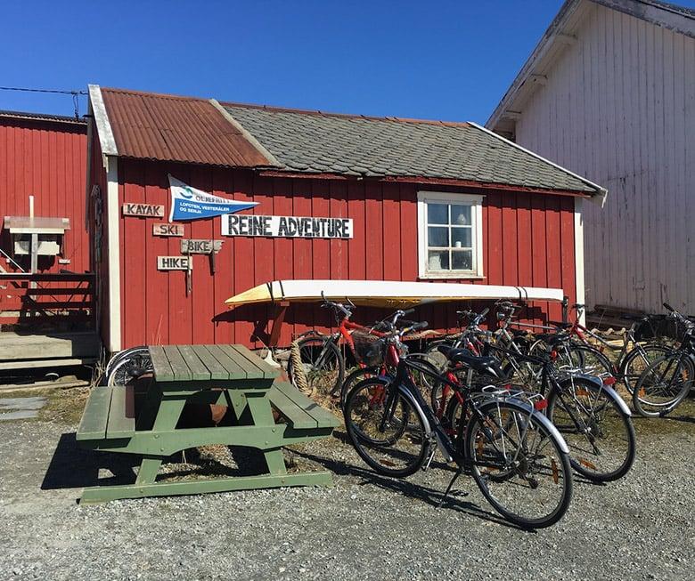 Reine Adventure bicycles for hire in Lofoten