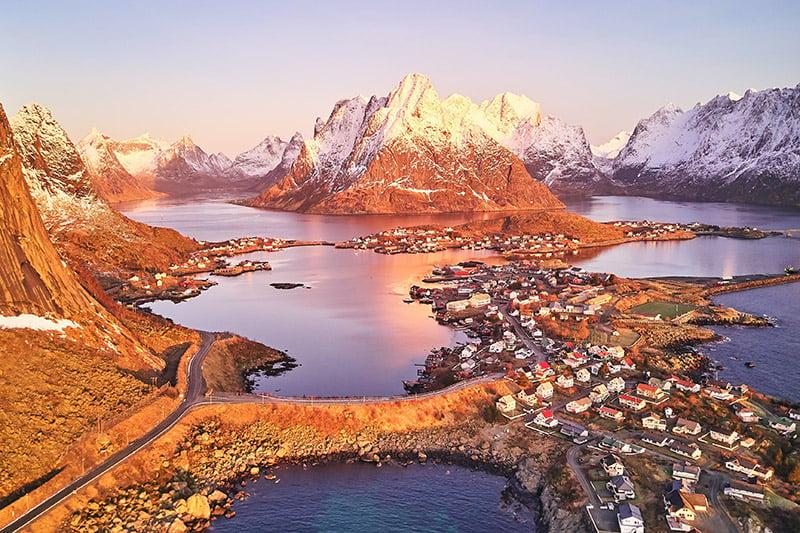Sunrise over Reine, Norway