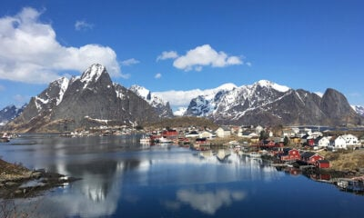 Panorama of Reine in Norway's Lofoten islands