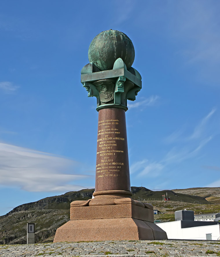 The Struve Geodetic Arc in Hammerfest, Norway