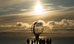 Sunshine at Norway's Nordkapp