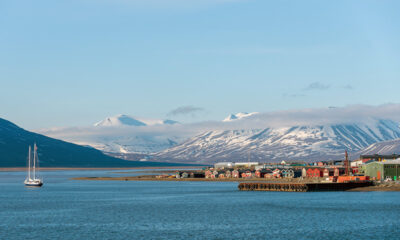 Svalbard harbour in the summer
